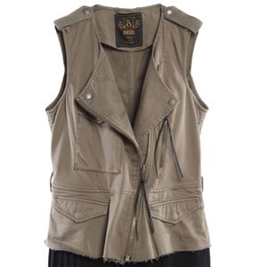 DIESEL military pleated 2 piece dress vest $398